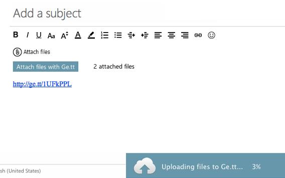 integrazione di GE.TT in Outlook.com di Microsoft