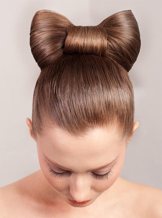 Фото прически банта из волос