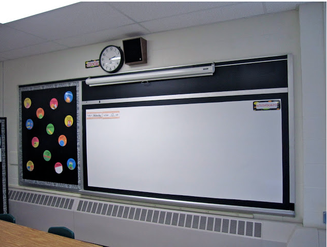 DIY Whiteboard with dry erase sheets
