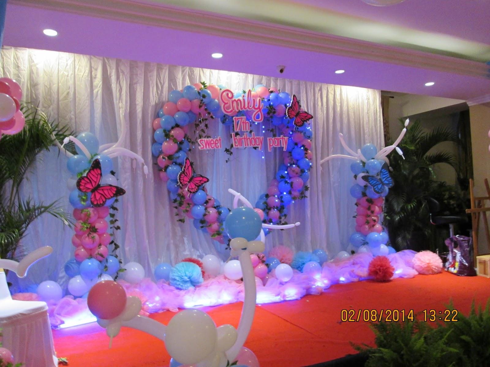 Jasa dekorasi ulang tahun di malang for Dekor kamar hotel ultah