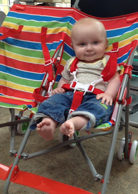 kiddicare.com basic essential twin stripes pushchair review