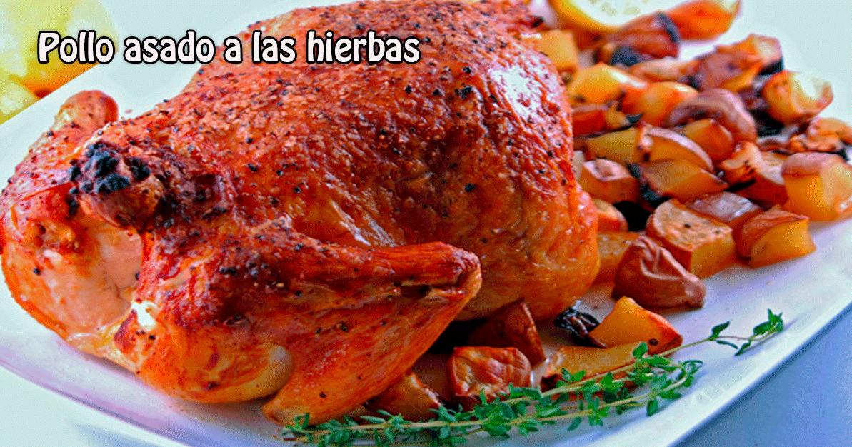 Pollo asado a las hierbas recetas f ciles - Pollo asado a las finas hierbas ...