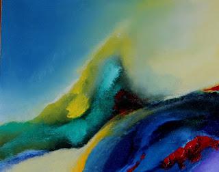Detalhes - óleo s/tela - obra de Elma Carneiro, arte abstrata