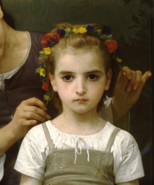 cute girl,genre painting, realism portrait