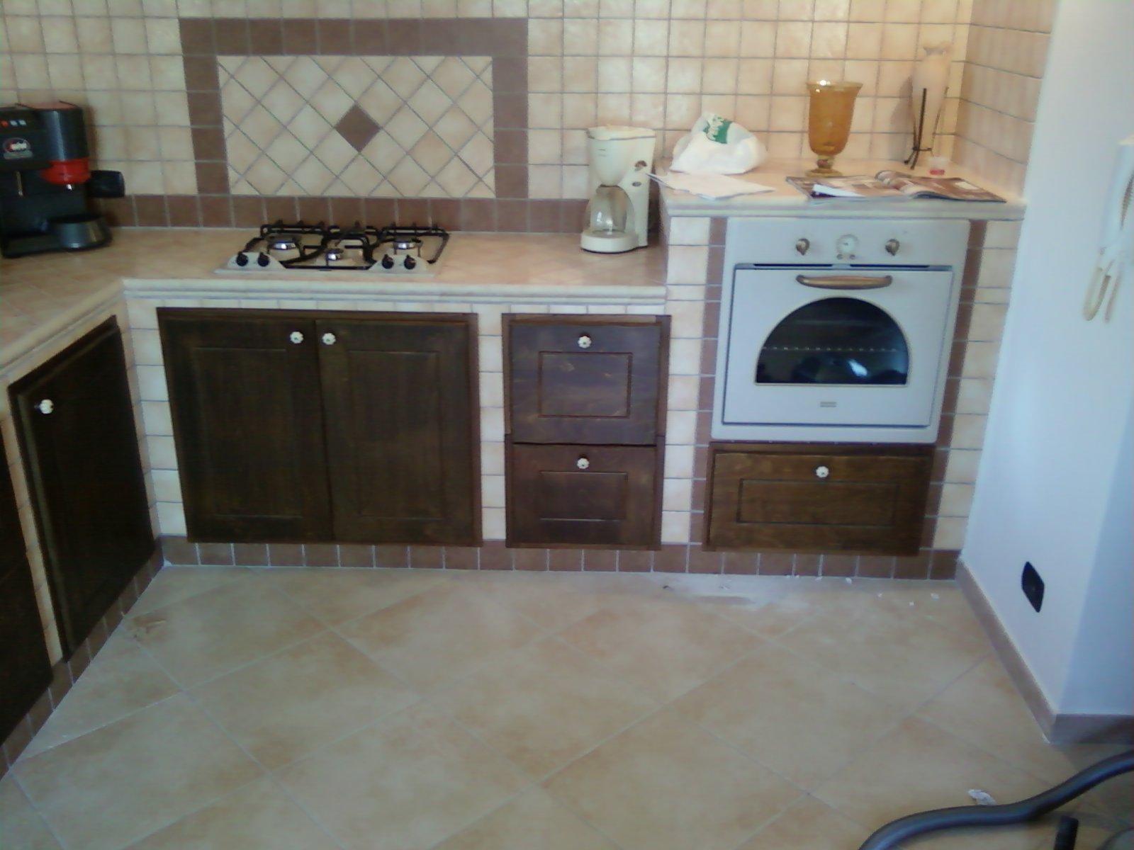 FAI DA TE HOBBY LEGNO: Cucina In Muratura #4B6D80 1600 1200 Armadietti Cucina Fai Da Te