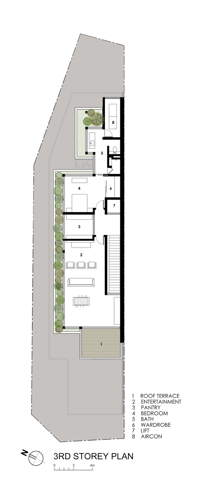 Second floor plan of Modern House by Wallflower Architecture + Design