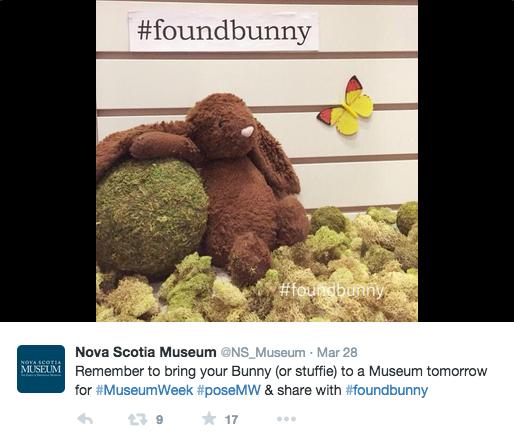 #FoundBunny Tweet, Nova Scotia Museum