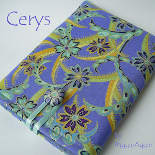 Beautiful periwinkle blue and gold fabric Kindle case, handmade in Wales UK for the discerning woman.