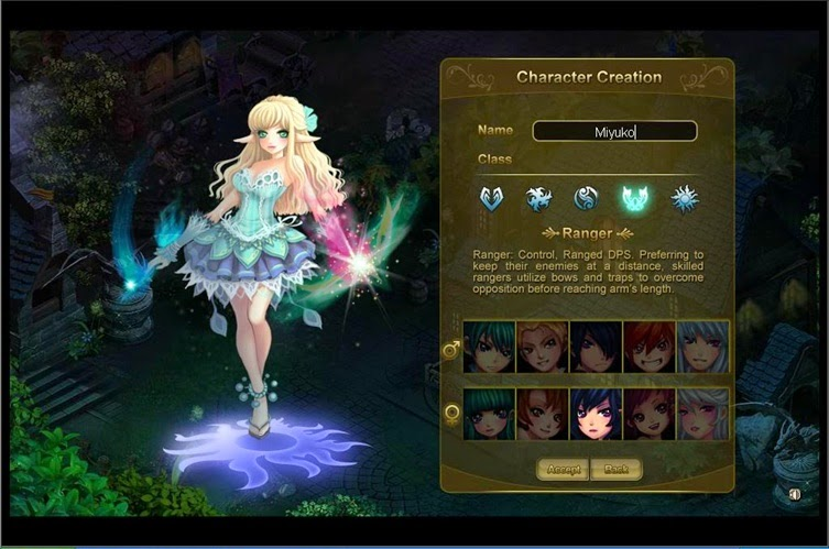 MMORPG Character customisation feature