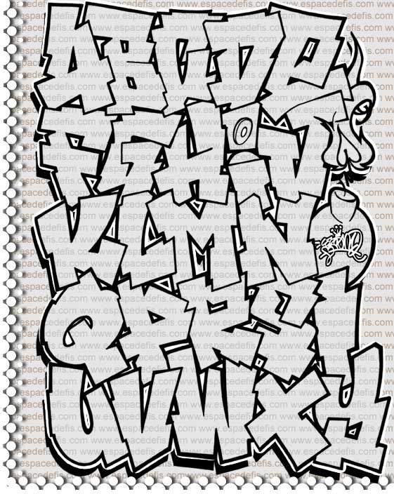 How to write graffiti fonts