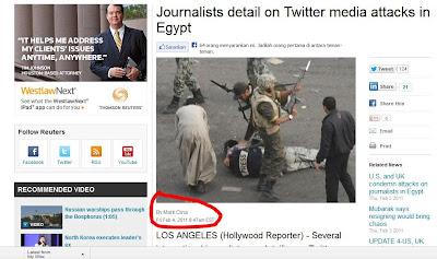 Foto hoax pendukung Morsi