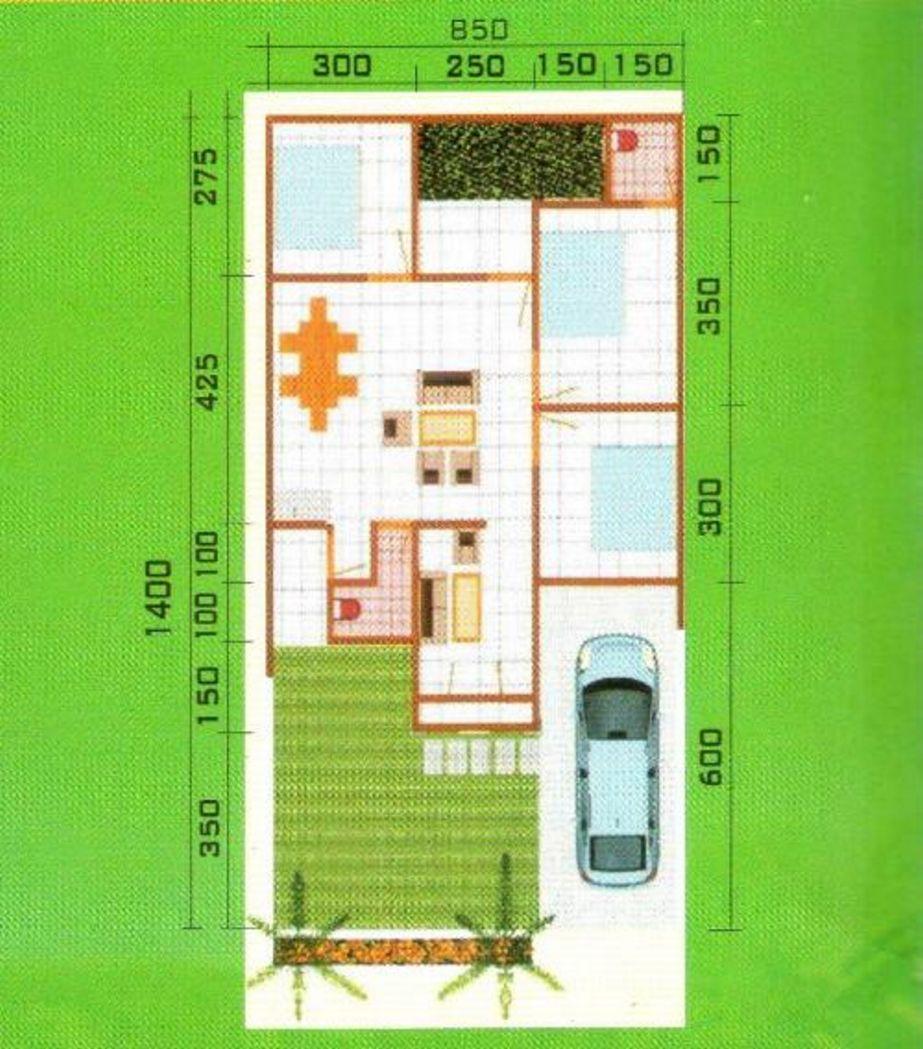 model denah 3 kamar tidur 2 kamar mandi terbaru