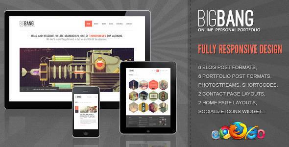 Bigbang - Responsive WordPress Template - Creative Portfolio