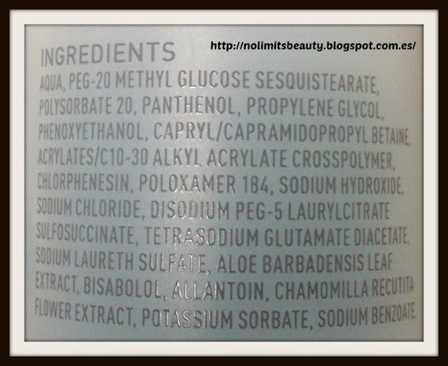 Ingredientes del Desmaquillador de ojos suave Deliplús