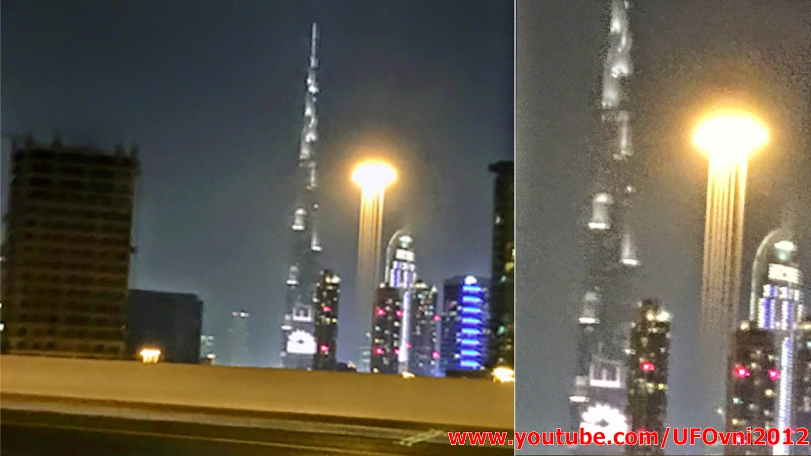 OVNI étrange lumière au-dessus de Dubaï, le 18 Janvier 2015