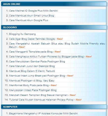 Cara Memanjakan Pengunjung Blog dengan Sitemap yang Simple dan Menarik