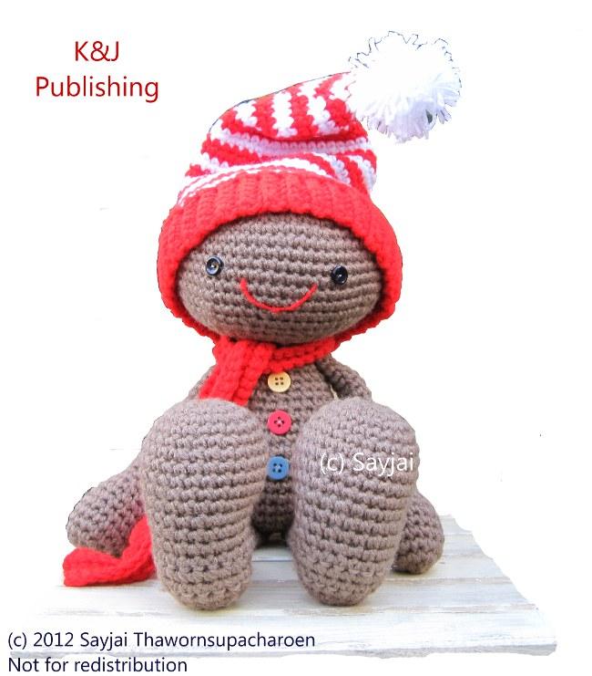 Gingerbread Doll Crochet Pattern For Christmas Sayjai Amigurumi