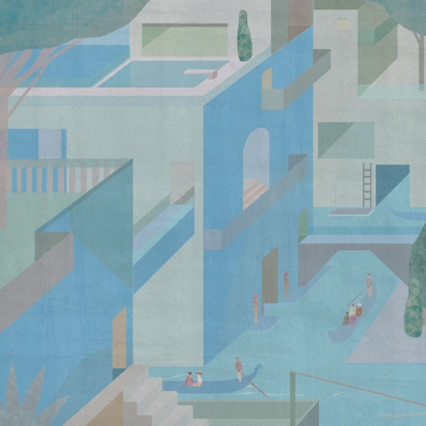 Blue Sutra | Bla Venedig © Jon Koko | Ilustración