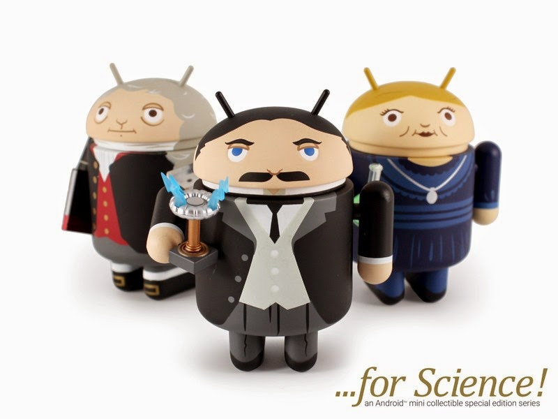 Android ...for Science! Mini Figure Series by Andrew Bell - Sir Isaac Newton, Nikola Tesla & Marie Curie