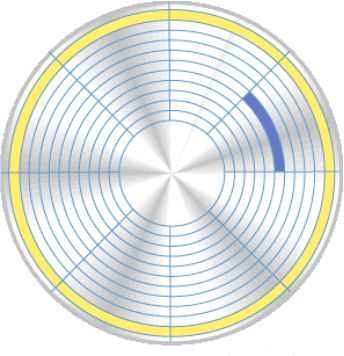 Ilustrasi piringan harddisk