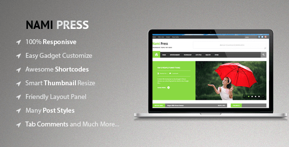 NAMI PRESS THEMEFOREST BLOGGER/BLOGSPOT PREMUIM TEMPLATE