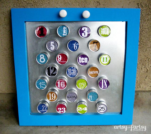Diy Calendar Magnets : Diy magnetic advent calendar artsy fartsy mama