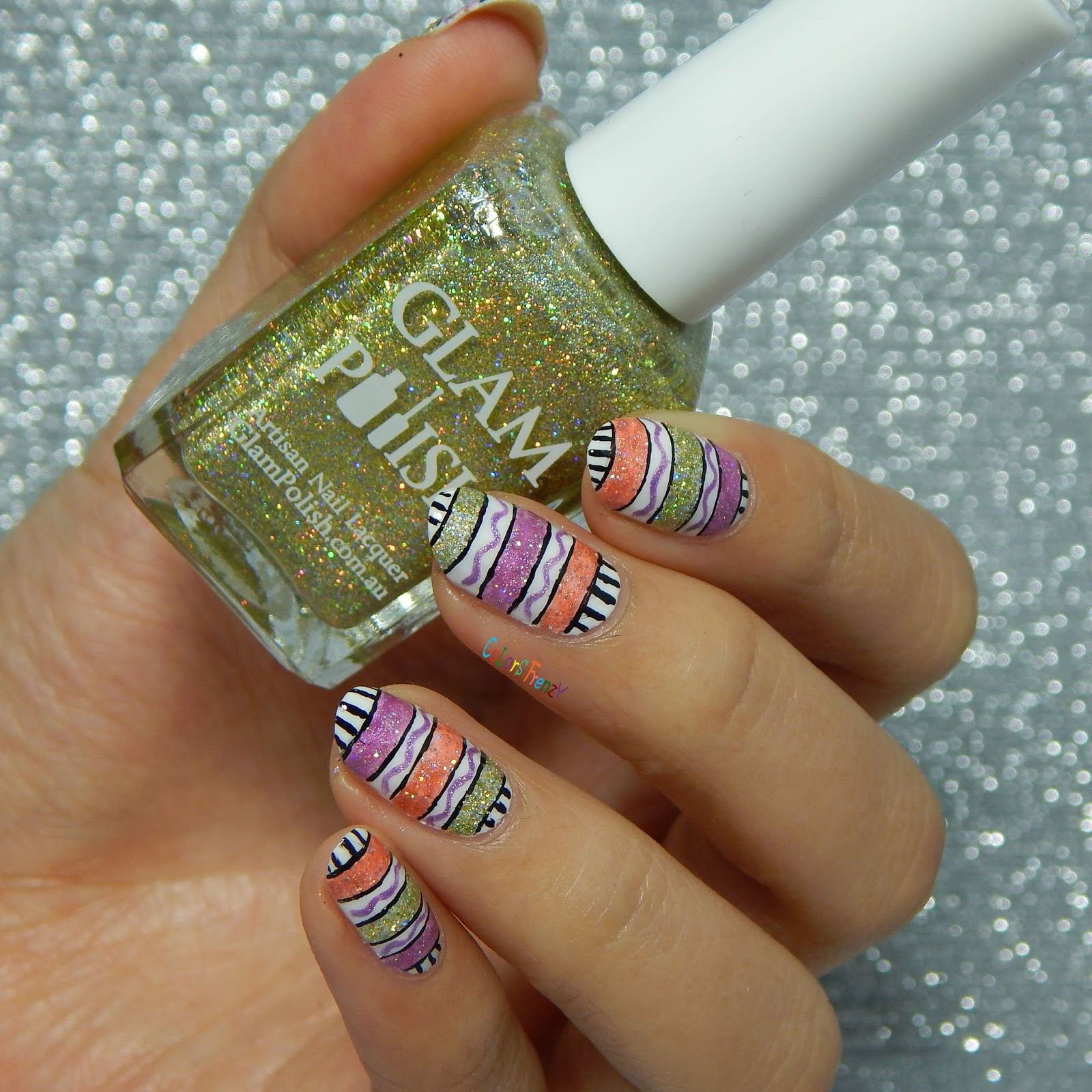 Colors Frenzy Hump Day Nail Art With Glam Polish