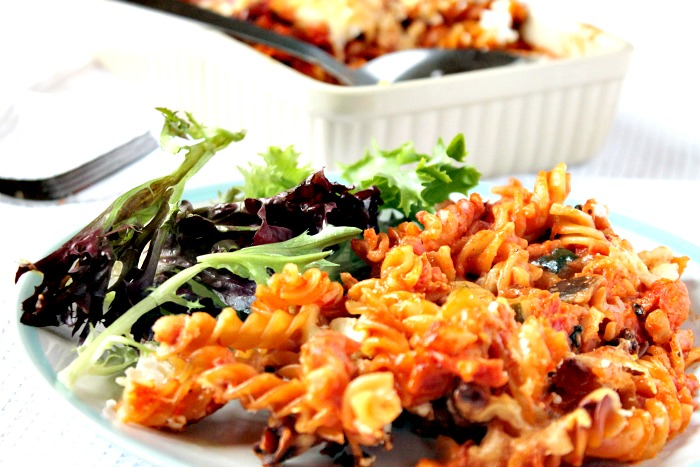 Easy Mediterranean Pasta Bake with Chorizo