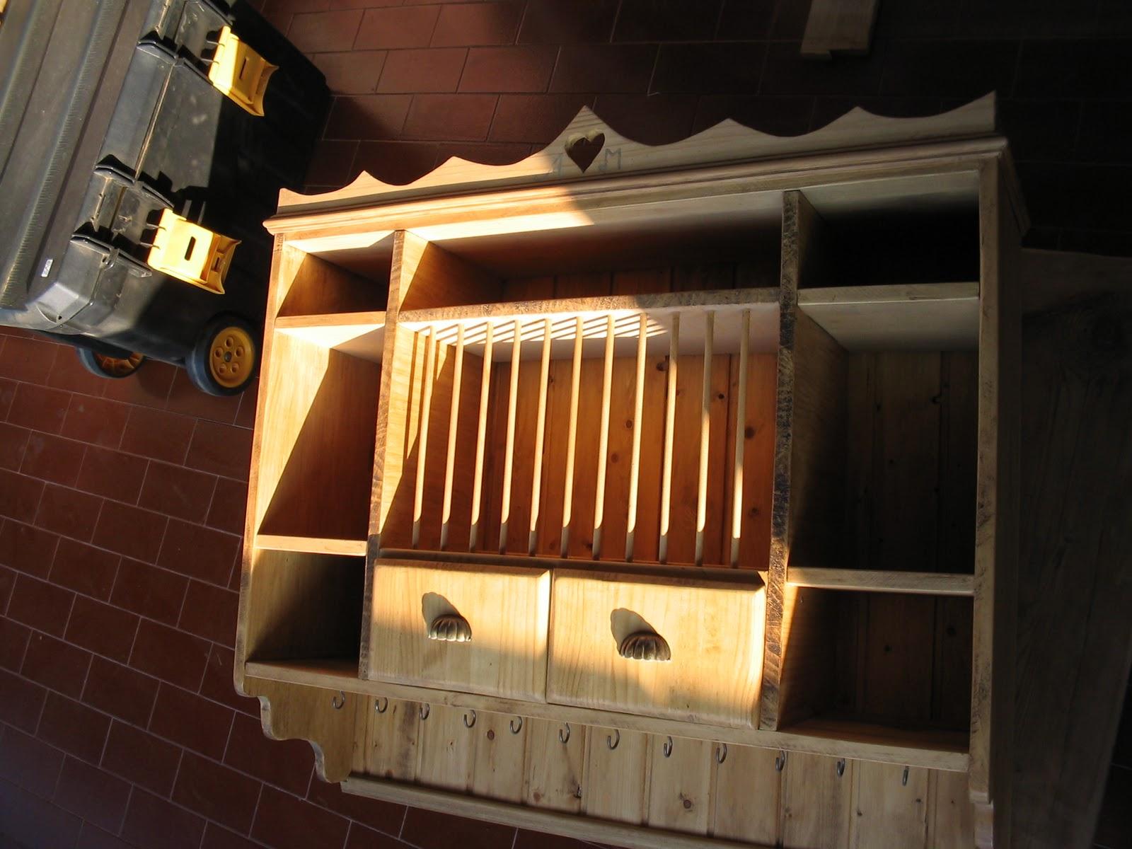 lámparas de teja mueble vitrina hecho de madera a mano más