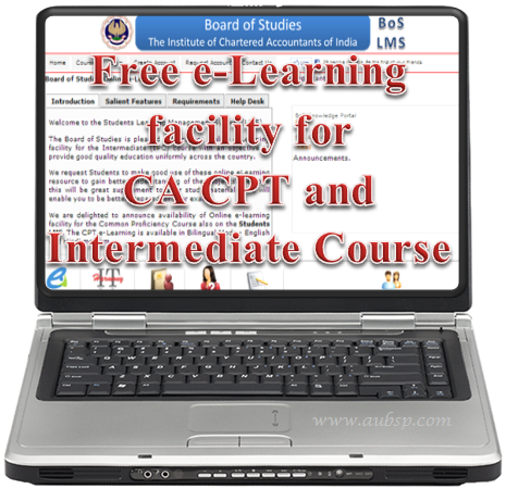 e-Learning facility for CA Students
