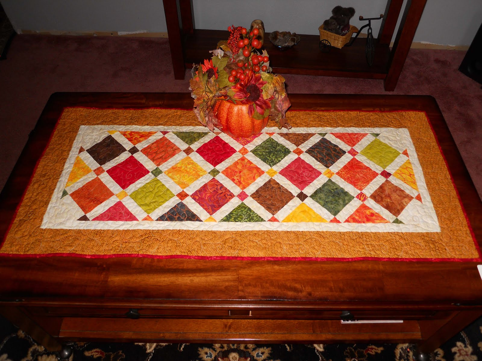 Quilting Affection Designs Autumn Table Runner Island Batiks