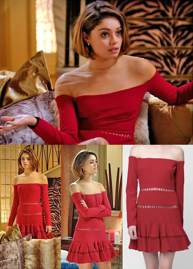 GOSTO DE AMORA-amora campana-sangue bom-novela das sete-bento-sophie charlotte-luxury-looks-o estilo de amora campana-vestido reinaldo lourenço-tule-nude-transparencia-vestido vermelho