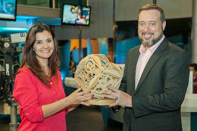 A diretora do Good News, Silvia Martinez, e o Superintendente de Jornalismo e Esportes da RedeTV!, Franz Vacek - Foto: Fernanda Simão/RedeTV!