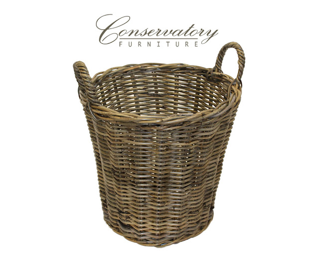 Kubu Log Basket weaved from Conservatoryfurniture.co.uk