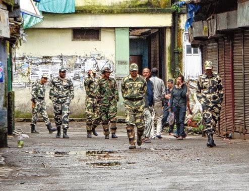 CRPF personnel in Darjeeling