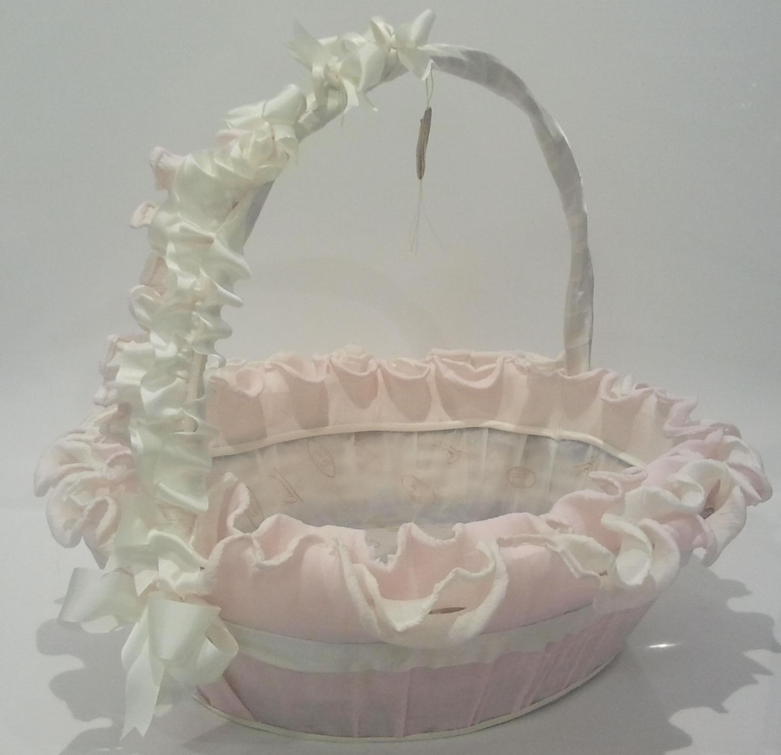 Cestas decoradas para comuni n imagui - Como adornar cestas de mimbre ...