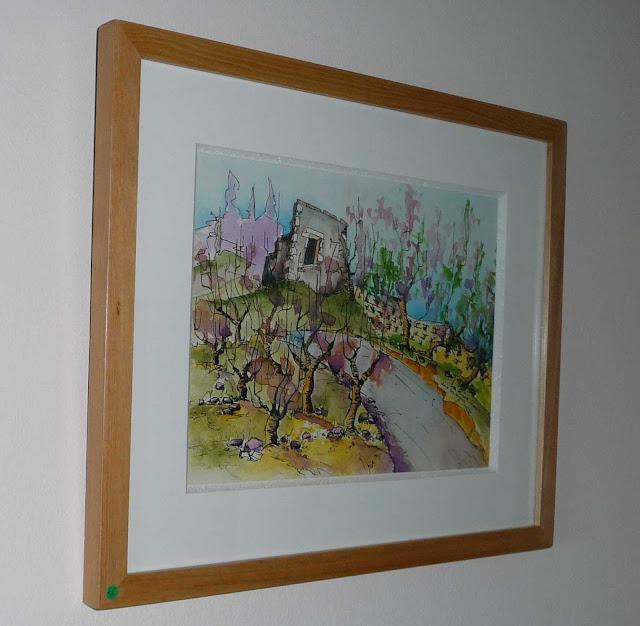 Ruina en las viñas - Acuarela original - Coleccion privada Chile  - Jicé