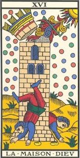 Arcano 16: A Torre, carta do tarô, tarot, baralho de marselha