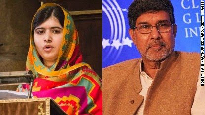 Malala Yousafzai and Kailash Satyarthi share Nobel Peace Prize
