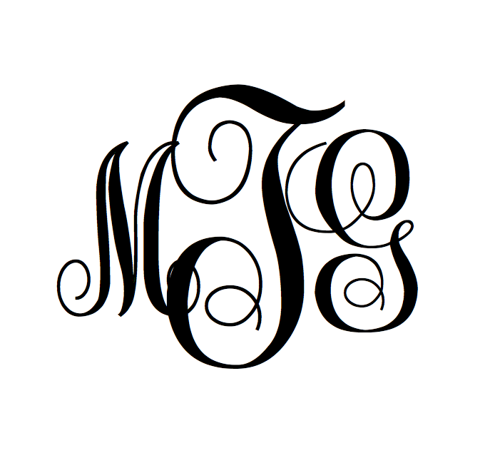 It is a picture of Priceless Free Printable Monogram Maker