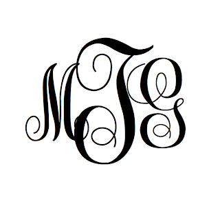 On pages I created this monogram using different size fonts and text ...