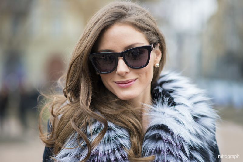 Olivia Palermo Before Robert Cavalli Milan Fashion Week 2013-14 FW