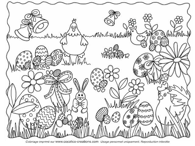 Cocolico creations mercredi coloriage 7 des oeufs et des cocottes pour p ques - Coloriage pour paques ...
