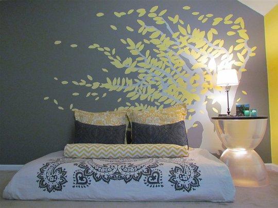 Dormitorios con estilo dormitorios en gris y amarillo - Dormitorio gris ...