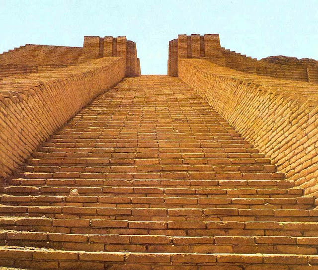 Uso dos tijolos no templo de Ur