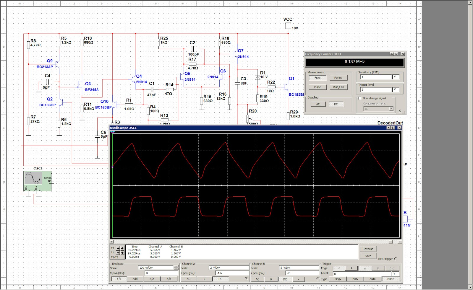 Custom Pcb For Diy Electronics August 2012 October Electronic Schematics I Think If The Upper Schematic Is Good Enough On 2 4 Mhz Then This Around 300 Khz Only