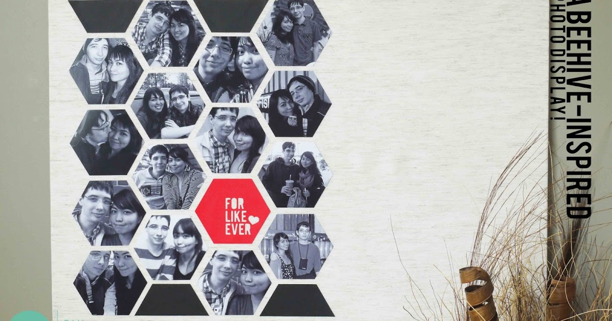 DIY: Beehive-Pattern Photo Display - A Shutterfly and Looksi Campaign