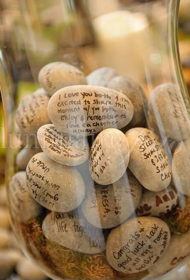 kamienie z cytatami dekoracja diy eco manufaktura