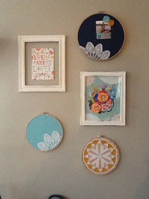 Sufficient: DIY Doily Embroidery Hoop Wall Art