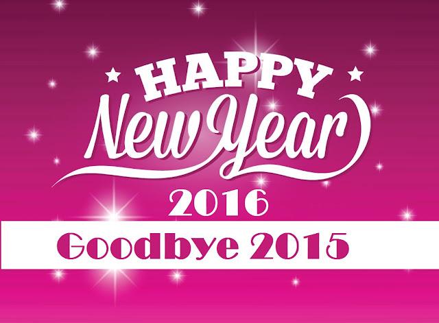Happy new year 2016 goodbye 2015 wallpaper hd pink